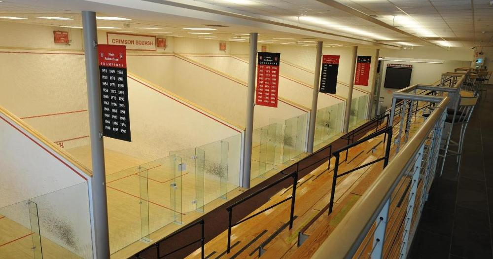 Murr Center squash courts.