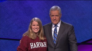 Clark with Alex Trebek
