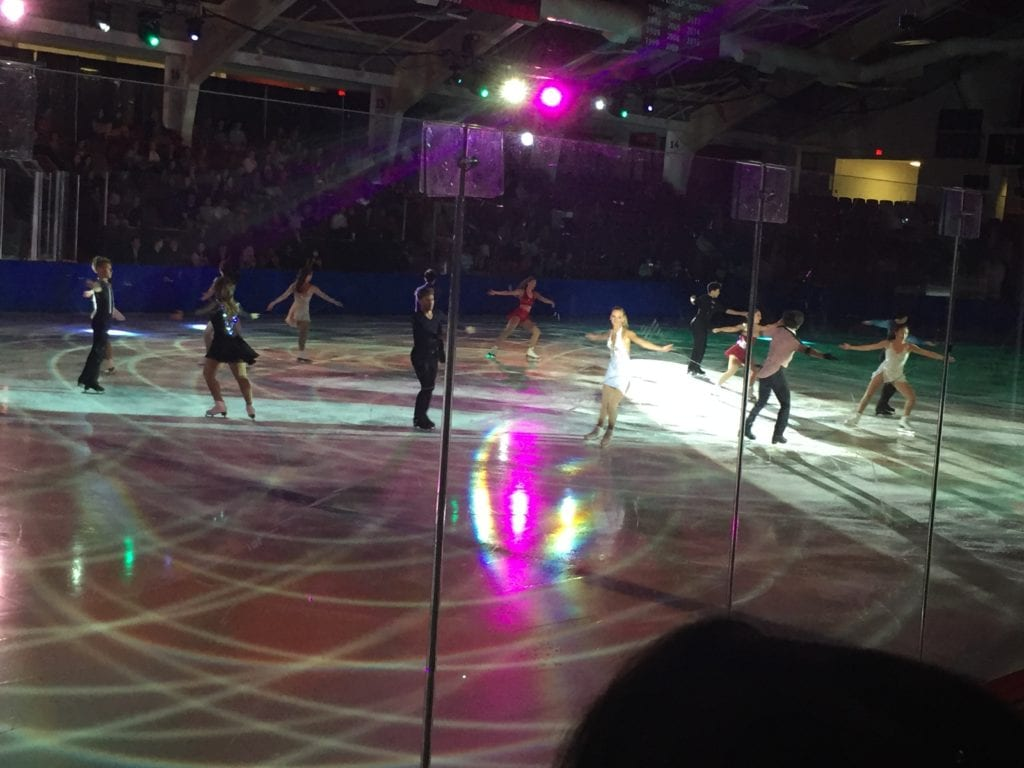 Skaters on the rink at Bright-Landry Hockey Center.